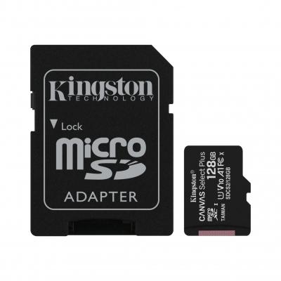 Карта пам'яті Kingston 128 GB class 10