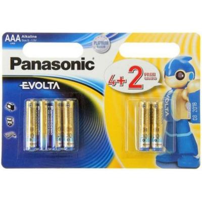 Батарейка Panasonic AAA LR03 Evolta * 6(4+2)
