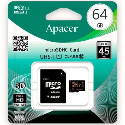 Карта пам'яті Apacer 64 Gb Class 10