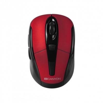 Мишка безпровідна Canyon Black/Red USB