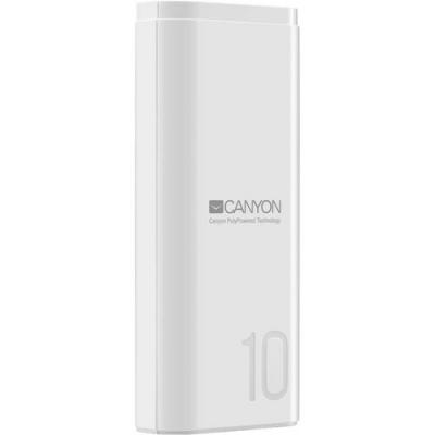Універсальна мобільна батарея Canyon 10000mAh White