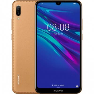 Смартфон Huawei Y6 2019 Dual Sim Amber Brown Faux Leather