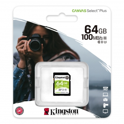Карта пам'яті Kingston SD 64 GB class 10