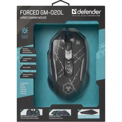Миша Defender Forced GM-020L Black USB
