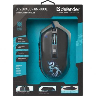 Миша Defender Sky Dragon GM-090L Black USB