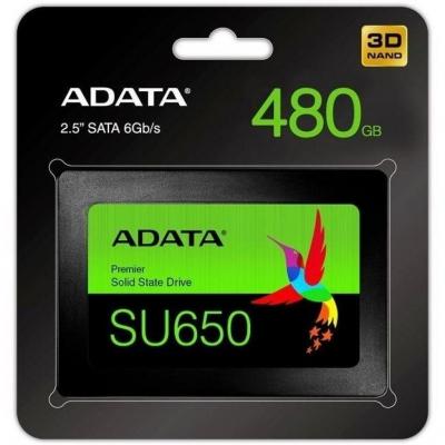 "Накопичувач SSD 2.5"" ADATA 480GB Ultimate SU650 SATAIII"