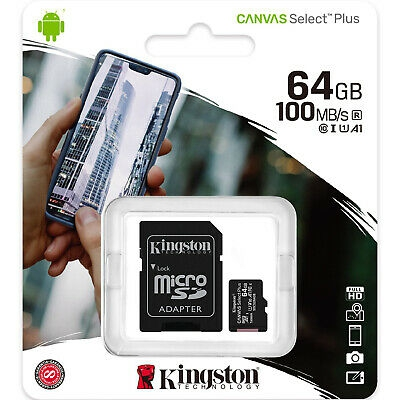 Карта пам'яті 64 GB Kingston Micro SD class 10