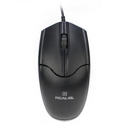 Комп'ютерна мишка  REAL-EL RM-410 Silent Black USB
