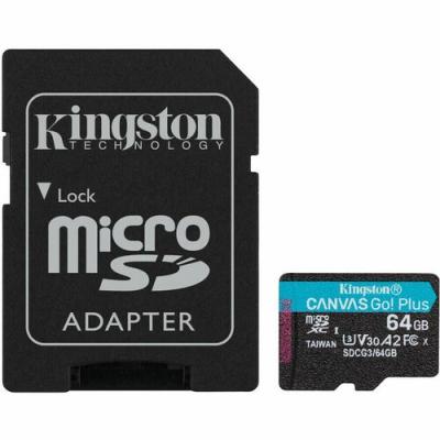 Карта пам'яті MicroSDXC 64GB UHS-I/U3 Class 10 Kingston Canvas Go! Plus