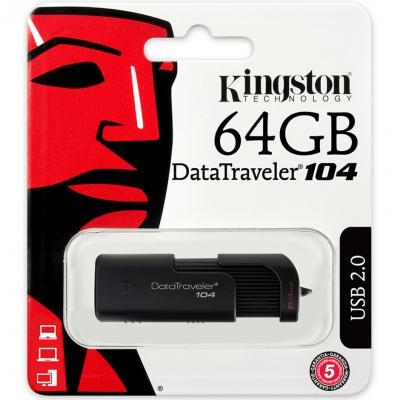 Флеш-накопичувач Kingston DT104 64GB USB 2.0