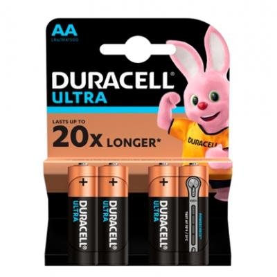 Батарейки Duracell АА LR06 MN1500 Ultra уп. 1x(3+1) шт.
