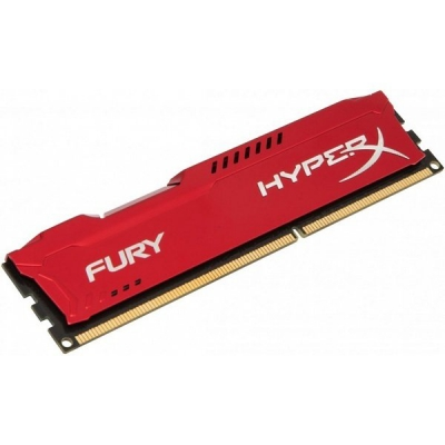 DDR3 Kingston HyperX FURY 4GB 1600MHz CL10 Red DIMM