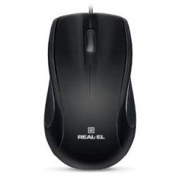 Комп'ютерна мишка  REAL-EL RM-250 Black USB+PS/2