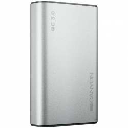 Універсальна мобільна батарея Canyon 10000mAh QC3.0 Silver