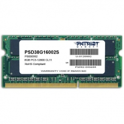 Модуль пам'яті SO-DIMM 8GB 1600 MHz DDR3 Patriot Signature Line