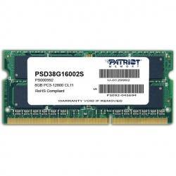 Модуль пам'яті SO-DIMM 8GB 1600 MHz DDR3 Patriot Signature Line
