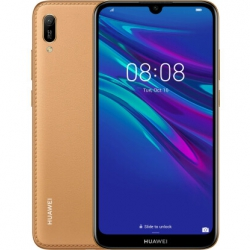 Смартфон Huawei Y6 2019 Dual Sim Amber Brown Faux Leather