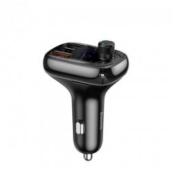 FM-трансмітер Baseus S-13 Bluetooth FM Launcher 2USB + Type-C - Black