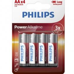 Батарейки PHILIPS Power Alkaline AA 4 шт