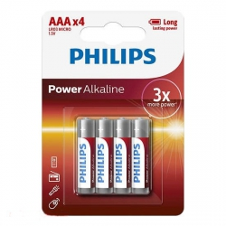 Батарейки PHILIPS Power Alkaline AAA 4 шт
