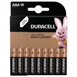 Батарейки Duracell ААА LR03 MN2400 1x18 шт