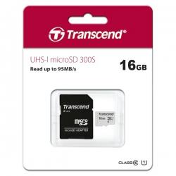 Карта пам'яті Transcend 16Gb microSDHC class 10