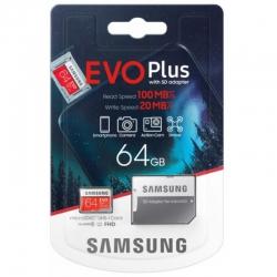 Карта пам'яті Samsung Evo Plus 64GB Class 10