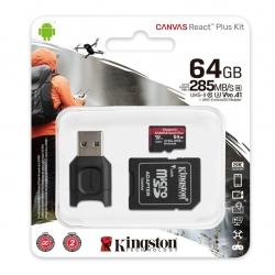 Карта пам'яті MicroSDXC 64GB UHS-II + SD-адаптер + USB-кардрідер