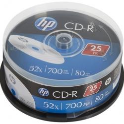 Диски CD-R HP 700MB 52x, шпиндель, 25 шт