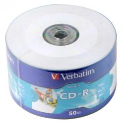 Диски CD-R Verbatim 700MB 52x Wraptape