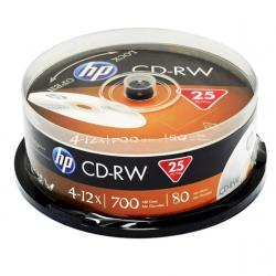 Диски CD-RW 80 HP 700MB 4x-12x,