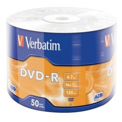 Диски DVD-R Verbatim 4.7GB 16x Wrap