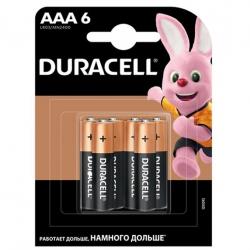 Батарейка Duracell Basic AAA/LR03 BL 6шт