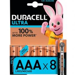Батарейки Duracell AAA LR03 MN2400 Ultra 8 шт.