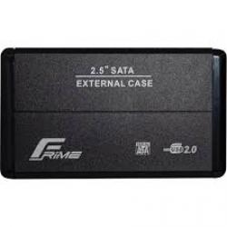 """Кишеня зовнішня Frime SATA HDD/SSD 2.5"""", USB 2.0, Metal, Black"""