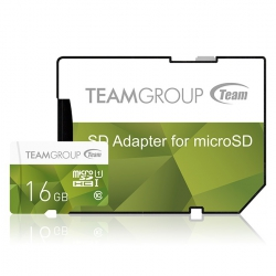Карта пам'яті MicroSDHC 16GB UHS-I Team Color  Green