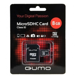 Карта пам'яті Qumo microSDHC Class10 8GB