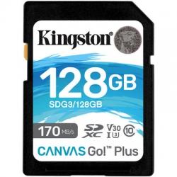 Карта пам'яті Kingston 128 GB SDXC class 10 UHS-I U3 Canvas Go! Plus