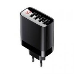 Мережевий зарядний пристрій Baseus Mirror Lake Digital Display Black