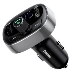Автомобільний зарядний пристрій Baseus T-Typed MP3 Car Charger Black