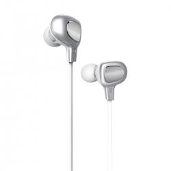 Навушники з мікрофоном Baseus B15 Seal Silver/White
