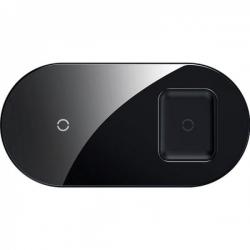Бездротовий зарядний пристрій Baseus Simple 2in1 18W Black