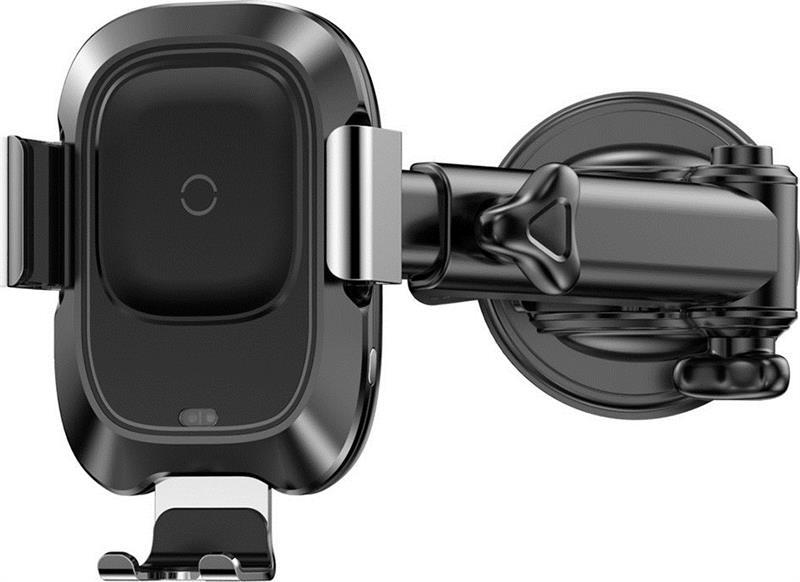 Тримач автомобільний + бездротове ЗУ Baseus Smart 2А Black