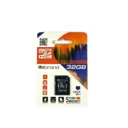 Карта пам'яті Mibrand microSDHC 32GB Class 10