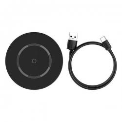 Бездротове зарядний пристрій Baseus Simple Magnetic Wireless Charger Black