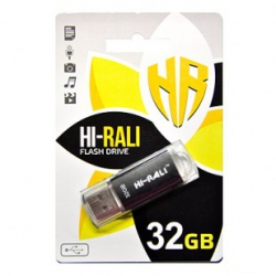 Флеш-накопичувач USB 32GB Hi-Rali Rocket Series Black