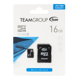 Карта пам'яті Team 16Gb microSDHC class 10 + adapter