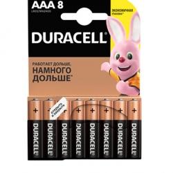 Батарейки Duracell ААА LR03 MN2400 1x8 шт