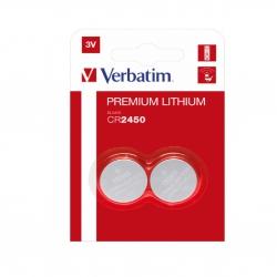 Батарейка Verbatim CR2450 3 В 2 шт