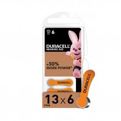 Батарейки для слухових апаратів Duracell Hearing Aid 13 6 шт